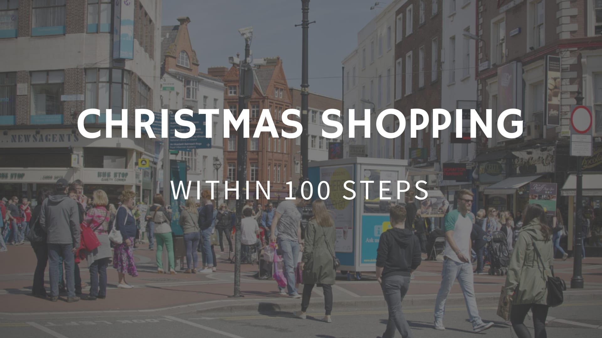 Christmas shopping within 100 steps