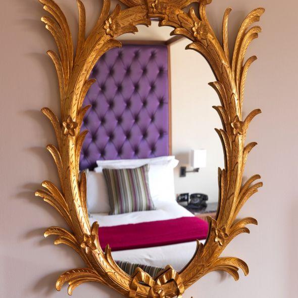 Gilded Guestroom Mirror