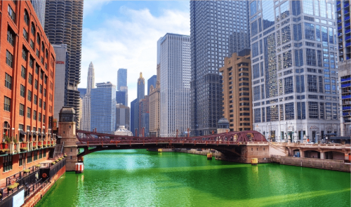 St Patricks Day Chicago River